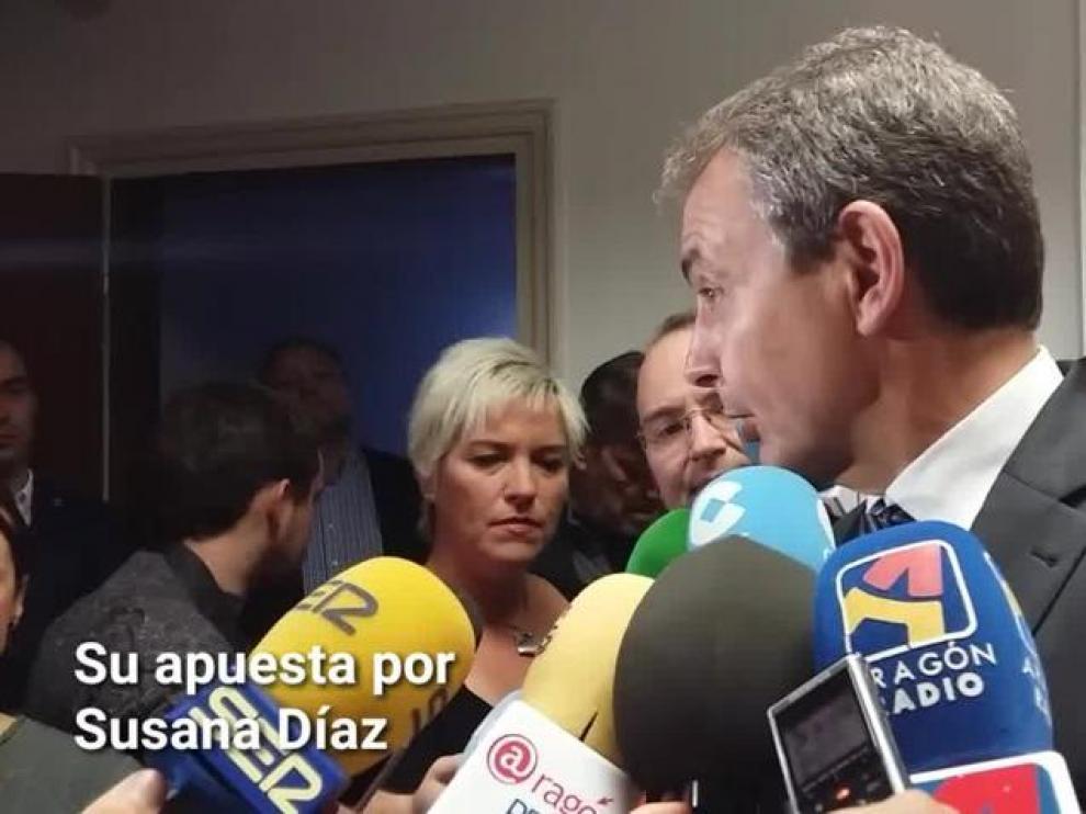 """Zapatero: """"Defiendo a Susana Díaz porque tiene cultura de partido"""""""