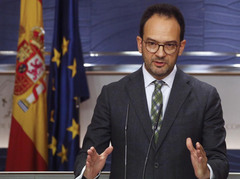 El portavoz del PSOE en el Congreso, Antonio Hernando.