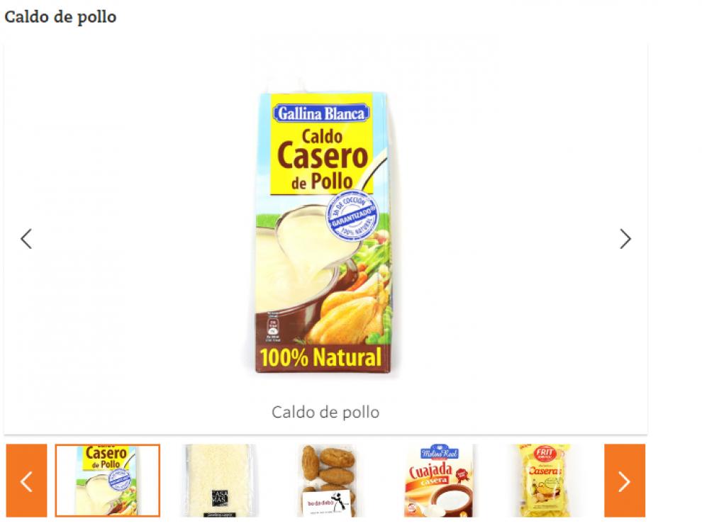 Los alimentos denunciados por la OCU en su página web.