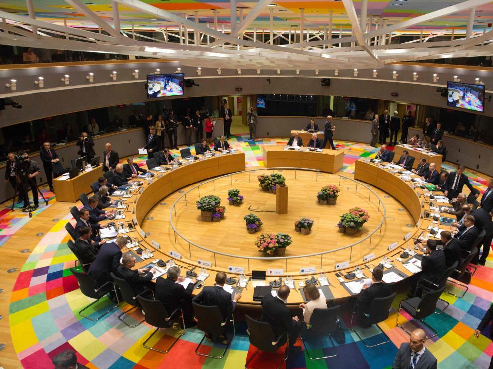 Los líderes de la Unión Europea reunidos en Bruselas.