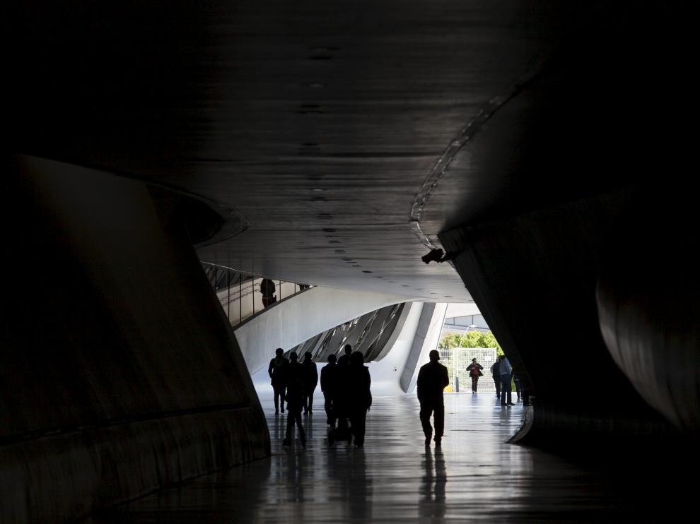 Interior del Pabellón Puente.