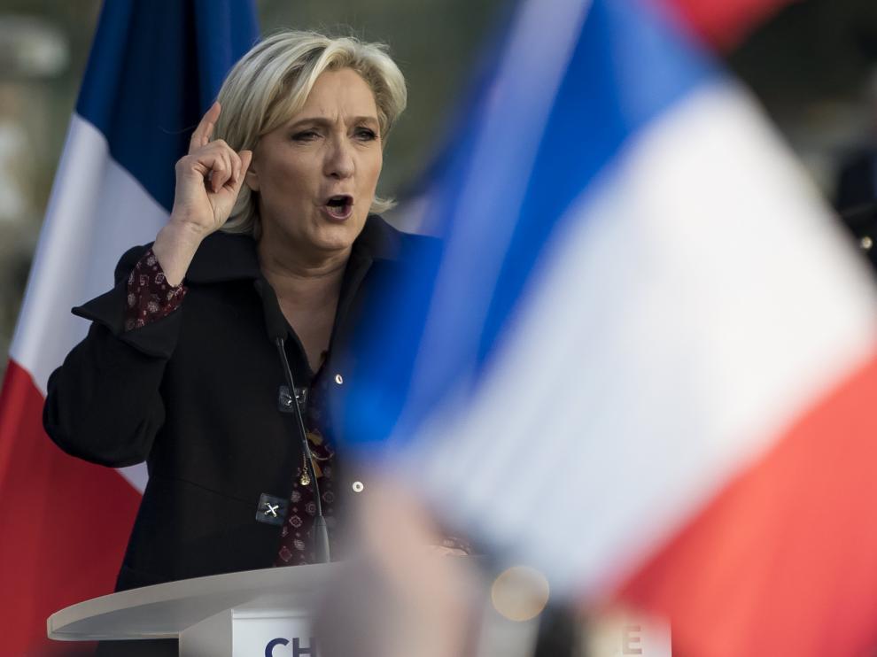 La candidata ultraderechista a las presidenciales, Marine Le Pen.