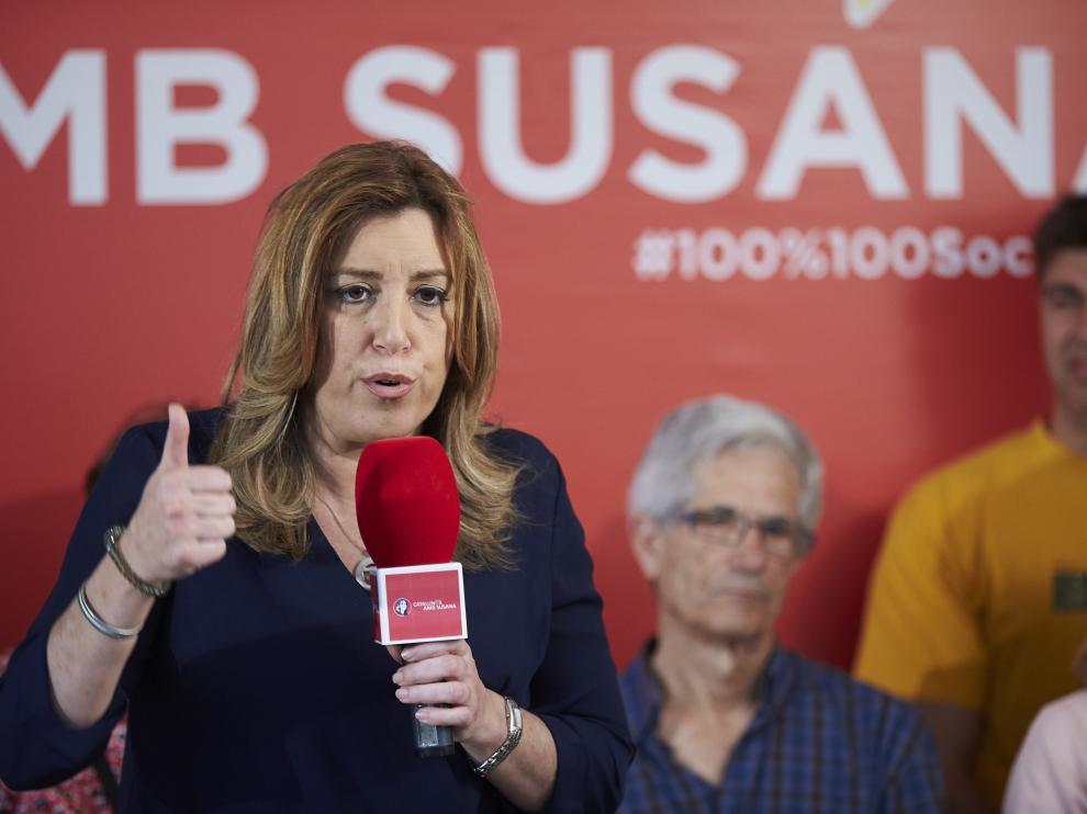 Susana Díaz en L'Hospitalet de Llobregat