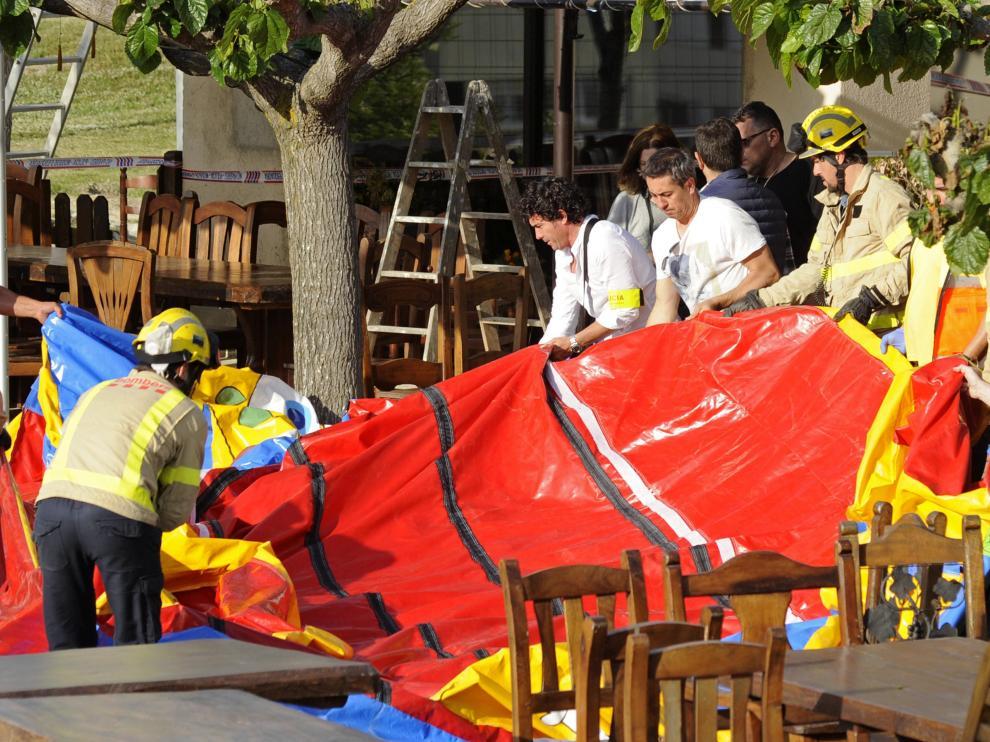 Siete menores heridos por un accidente en un castillo hinchable