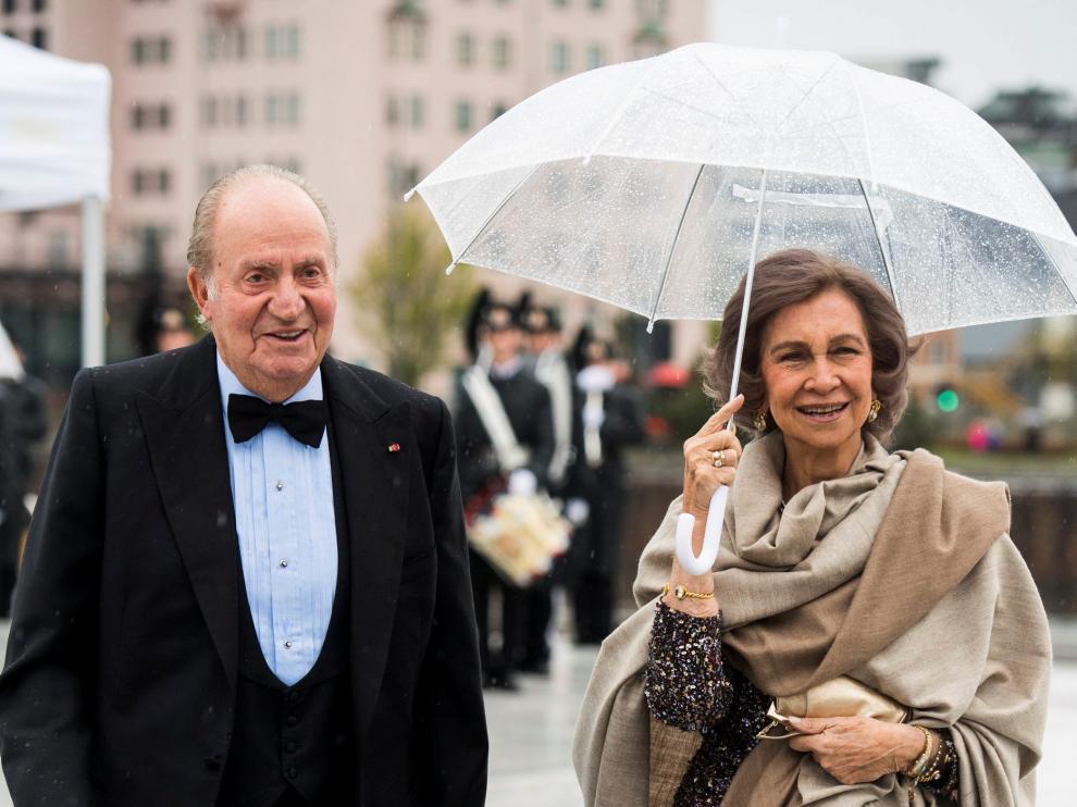 Los reyes eméritos don Juan Carlos y doña Sofía.