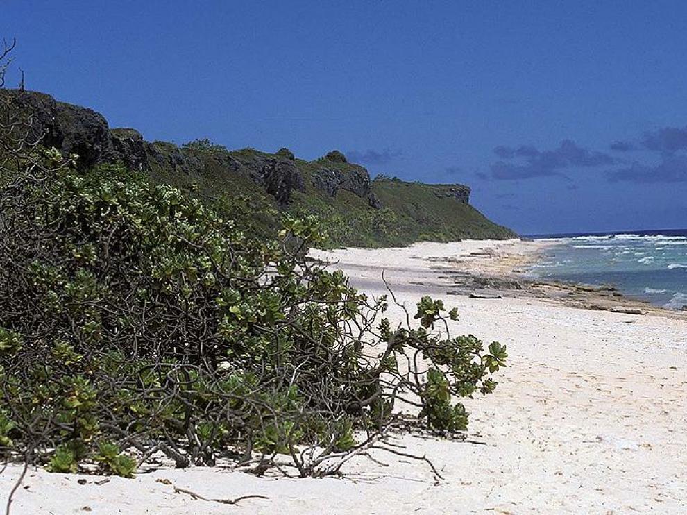 La isla Henderson, en el Pacífico.
