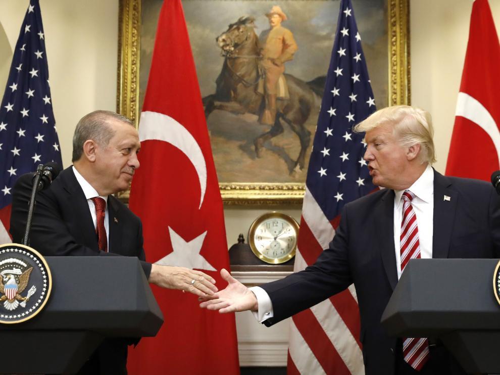 Erdogan y Trump, en la Casa Blanca.