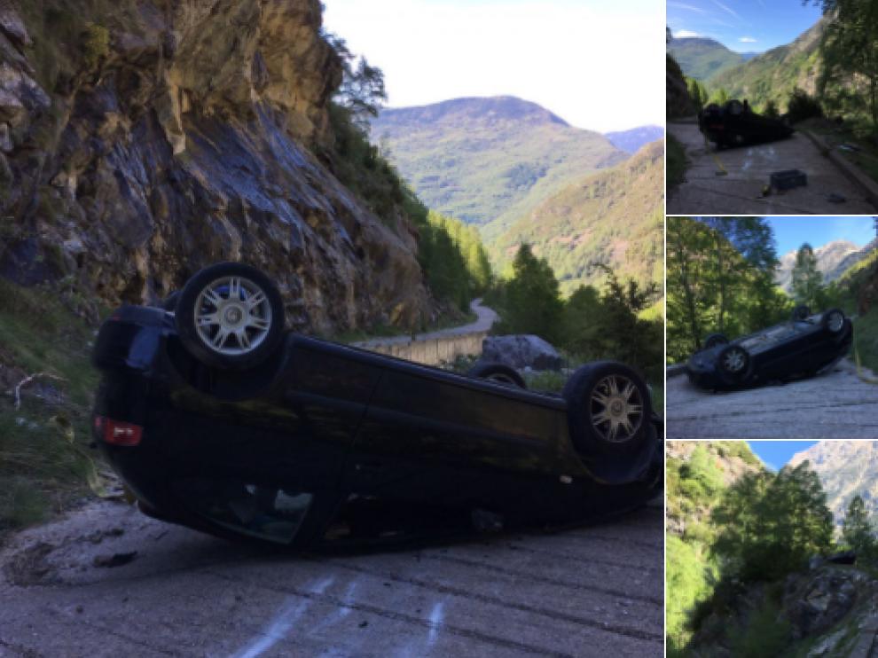 Aparatoso accidente en la Ribargorza