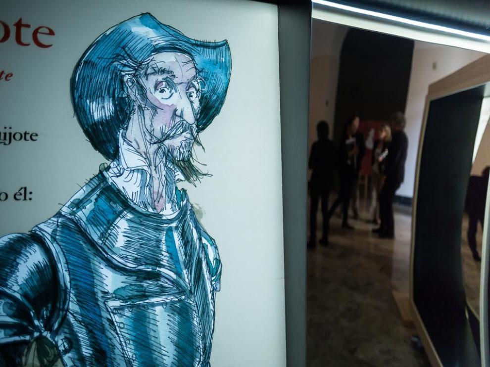 Exposición itinerante '16 personajes que maravillan y… Miguel de Cervantes'.