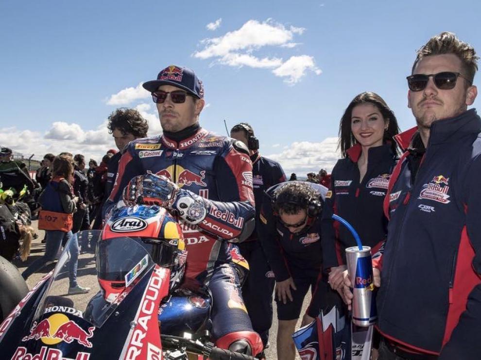 Nicky Hayden, el pasado mes de abril en el circuito de Motorland