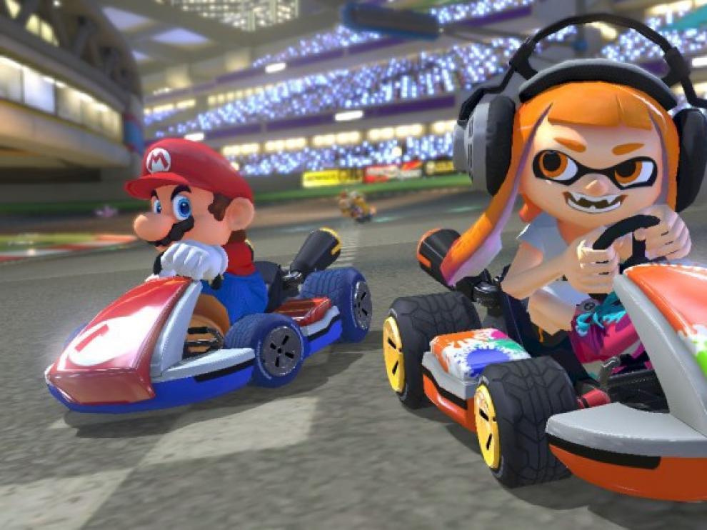 Mario y sus amigos llegan en coche a la Switch