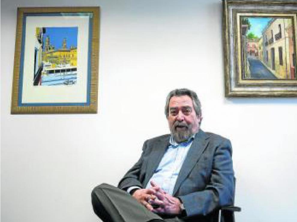 Juan Alberto Belloch, en su despacho en la Audiencia Provincial de Zaragoza.
