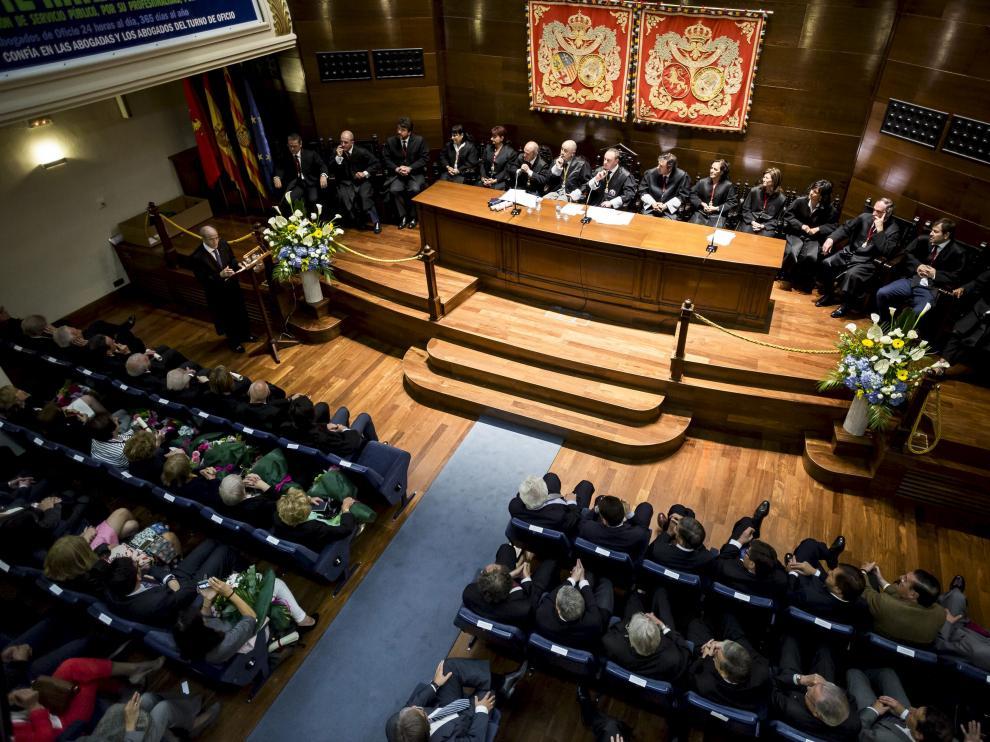 Foto de archivo del Colegio de Abogados de Zaragoza.