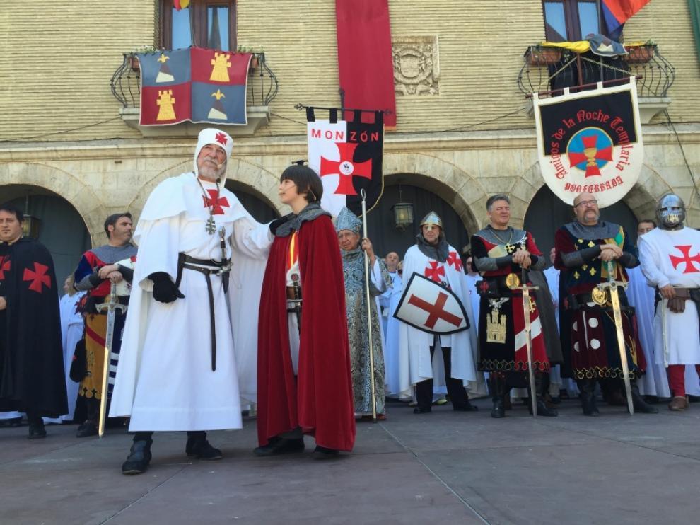 Celebración del homenaje a Mont-Rodón en 2016.