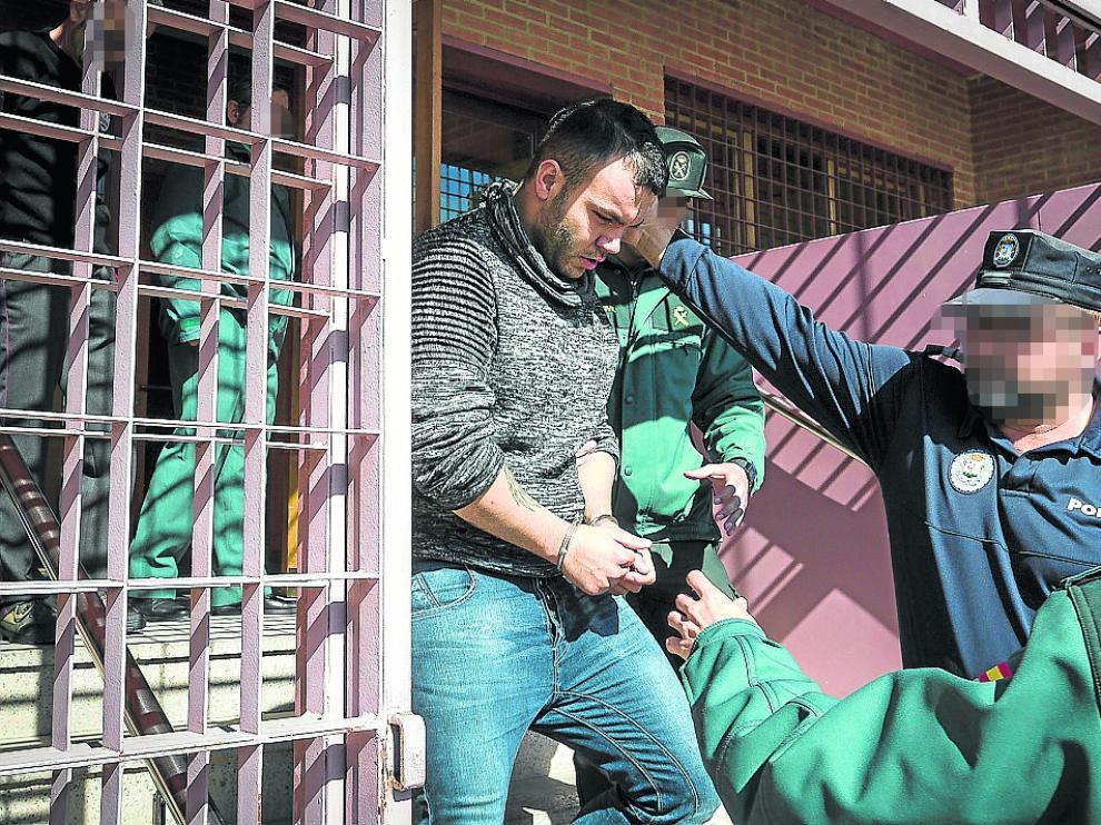 Iván K., el 14 de octubre de 2016, cuando el juez de Ejea decretó su ingreso en prisión.