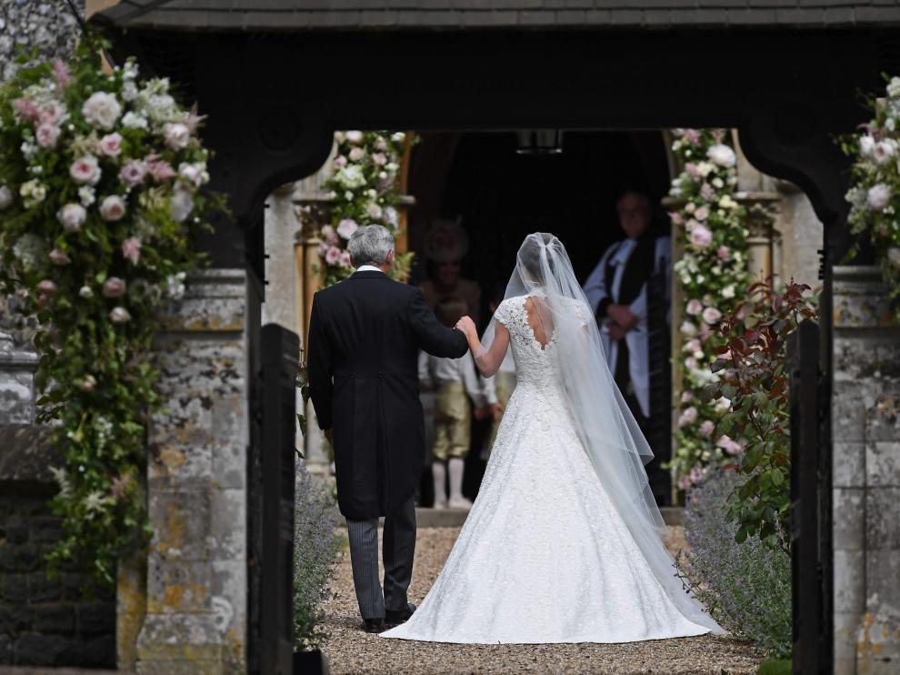 Foto de archivo de la boda de Pippa Middleton
