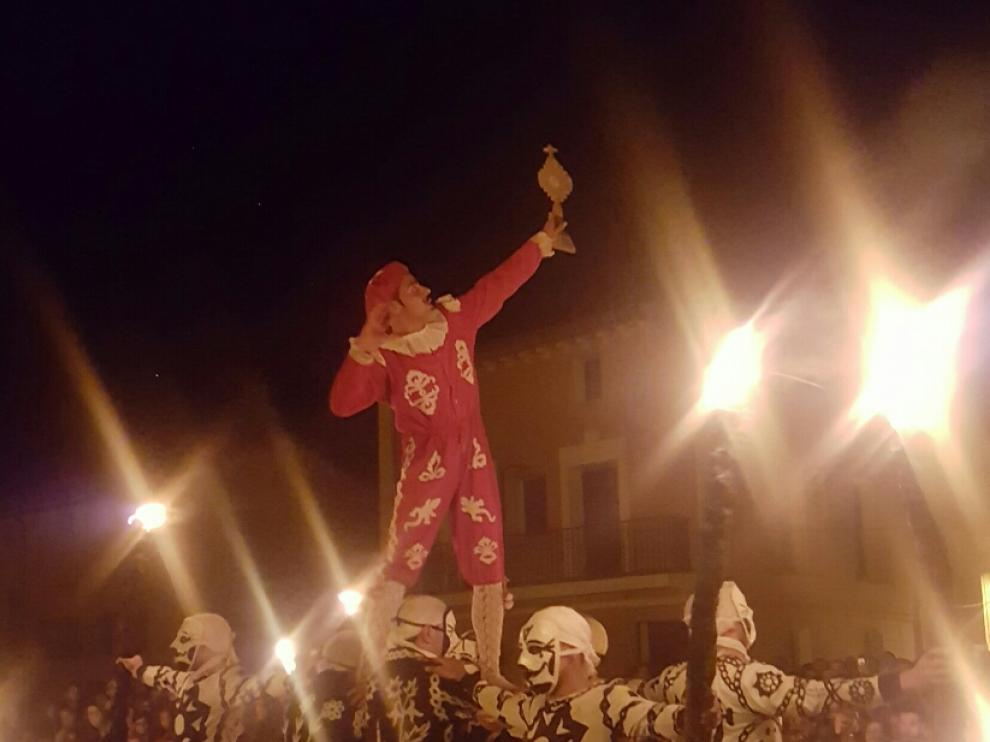 Representación de la contradanza de Cetina, este viernes por la noche