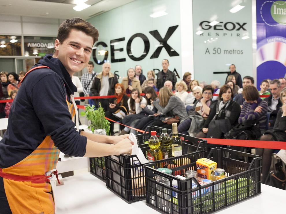 Mateo Sierra, en una demostración de cocina