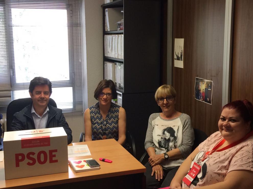 Votaciones en el PSOE de Huesca.