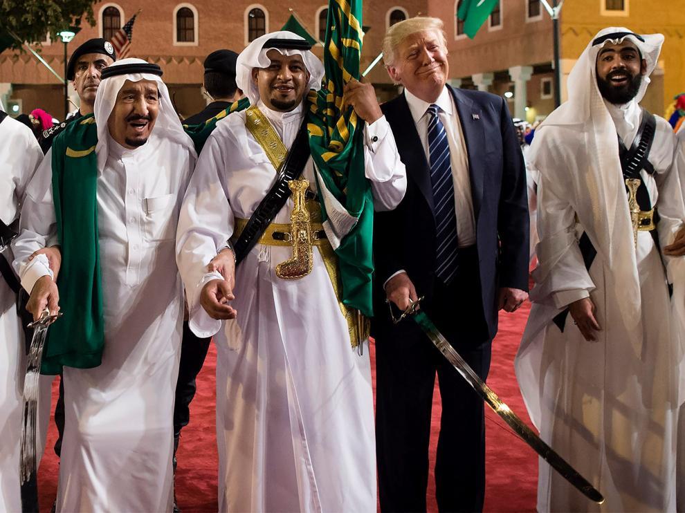Trump, durante su visita a Arabia Saudí