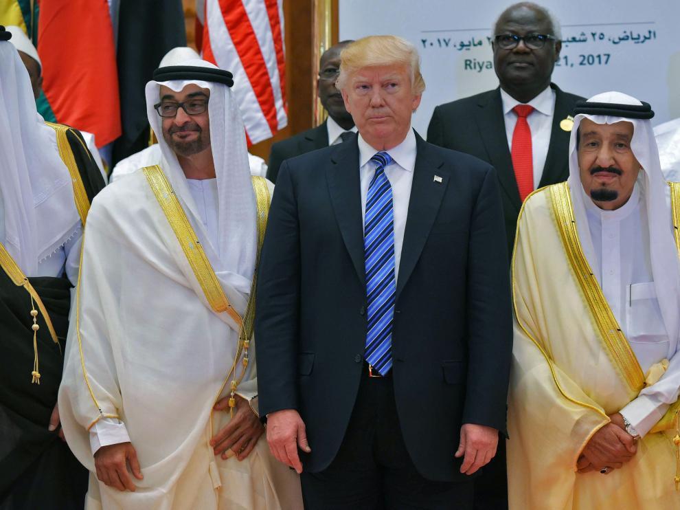El presidente de EE.UU., Donald Trum, con el rey de Arabia Saudí, Salman bin Abdulaziz.