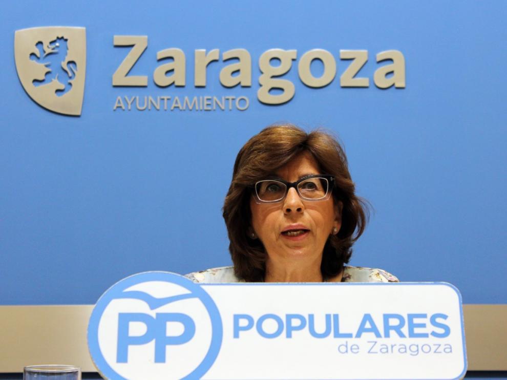 Reyes Campillo, concejal del Partido Popular en el Ayuntamiento de Zaragoza, este lunes.