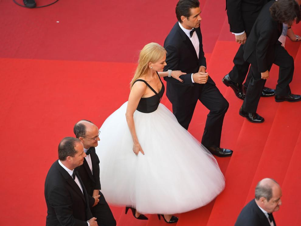 Kidman en la alfombra roja de Cannes