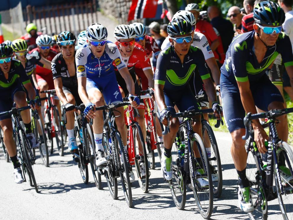 Nairo Quintana durante el Giro de Italia.