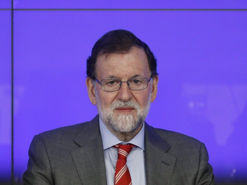 Mariano Rajoy, este lunes en la reunión del Comité Ejecutivo Nacional del PP.