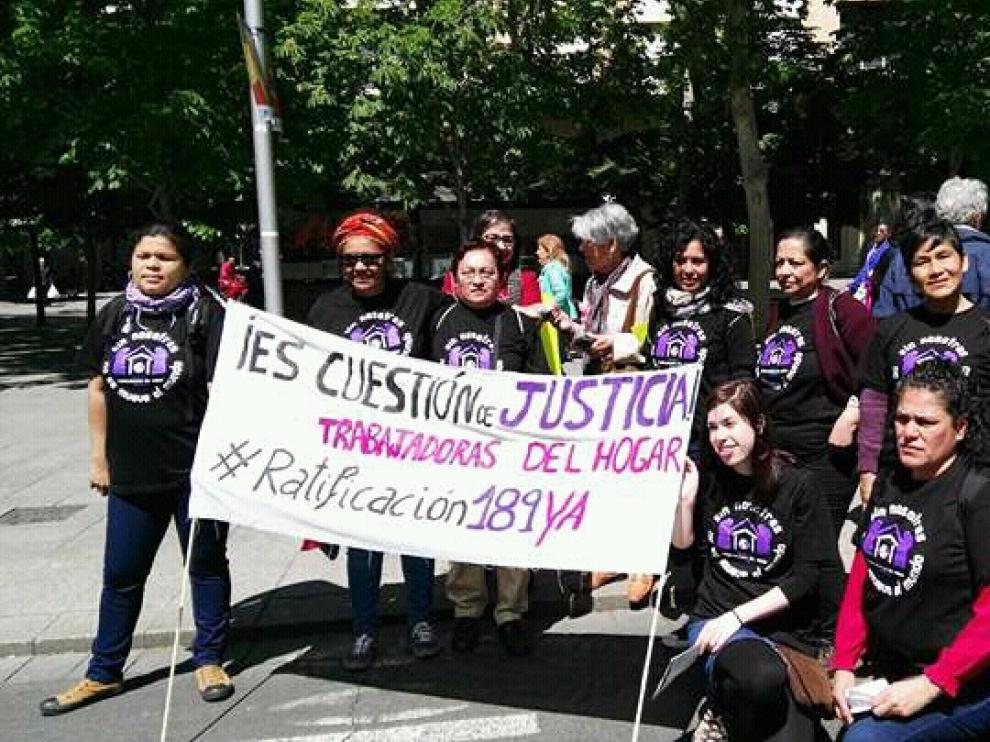En Zaragoza acaba de nacer el primer colectivo de trabajadores del hogar y de cuidados