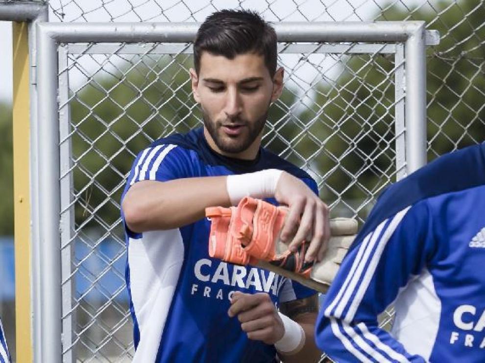 Álvaro Ratón, en la Ciudad Deportiva.