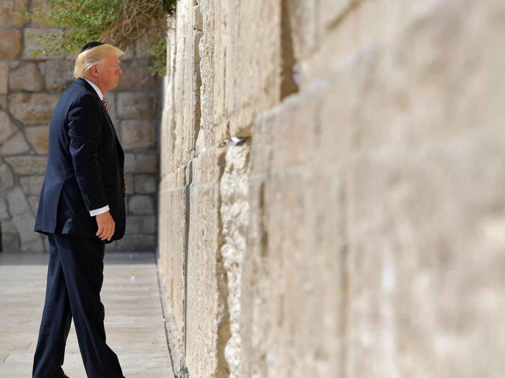 Donald Trump, en el Muro de las Lamentaciones