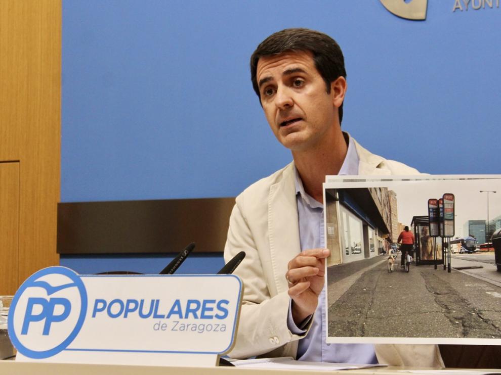 Pedro Navarro, concejal del Partido Popular en el Ayuntamiento de Zaragoza.