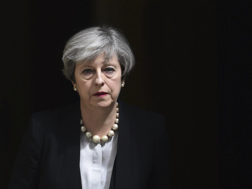 La primera ministra biritánica, Theresa May, este martes en Londres.