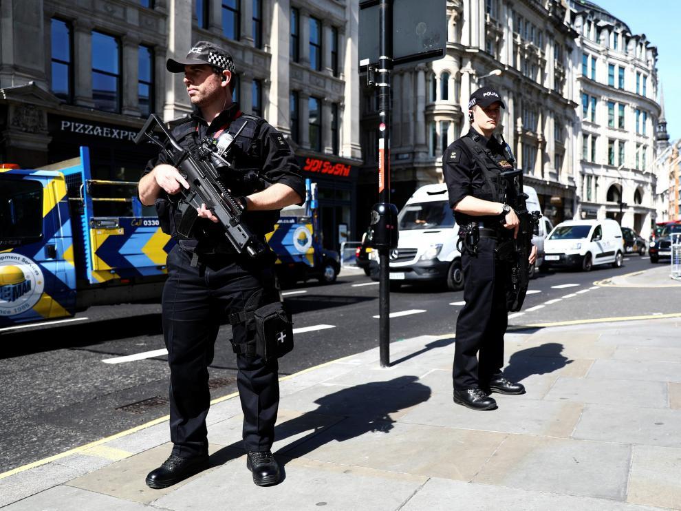 Londres tras el atentado en el Parlamento