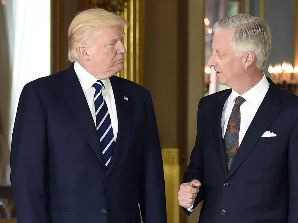 Miles de personas protestan contra OTAN y la presencia de Trump