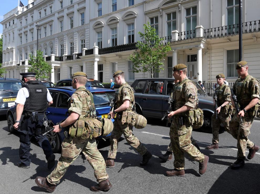 El Ejército se ha desplegado en las calles de Reino Unido.