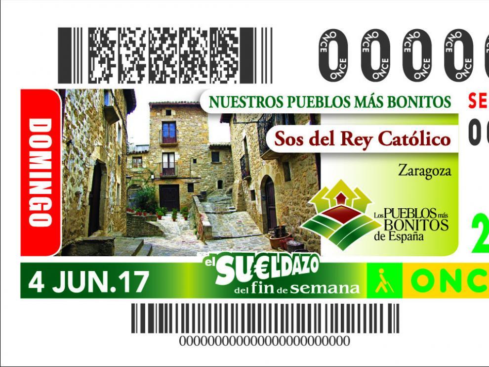 Imagen del cupón de Sos del Rey Católico para el próximo domingo 4 de junio.