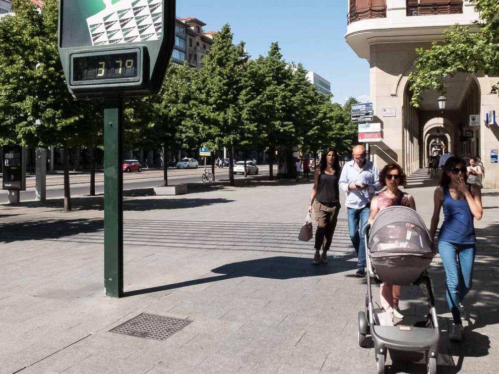 Alerta por altas temperaturas en la Ribera del Ebro.