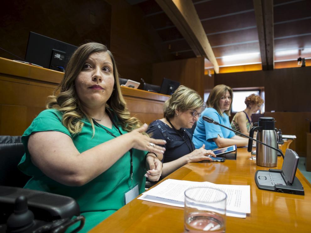 Imagen de la comisión contra la violencia machista de las Cortes de Aragón.