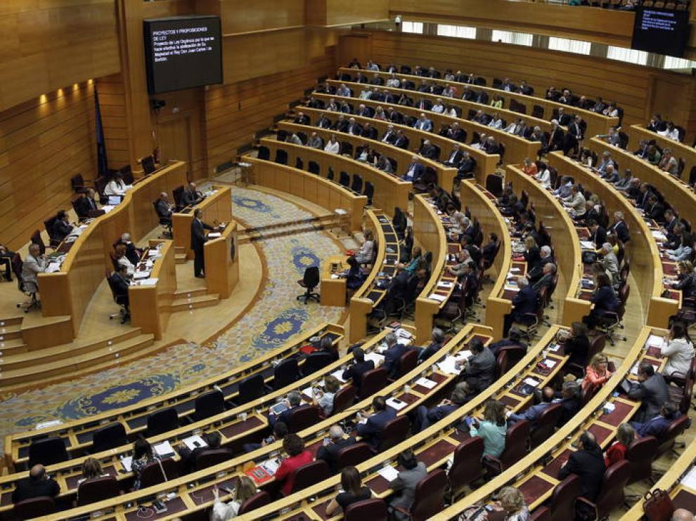Imagen de archivo de un pleno del Senado.