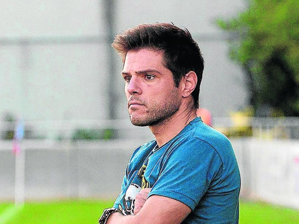 Diego Allueva, en un partido del Robres en la pasada liga.