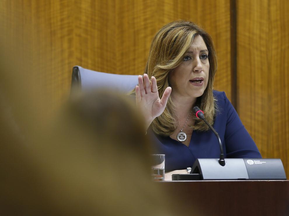 Susana Díaz en una comparecencia de esta semana.