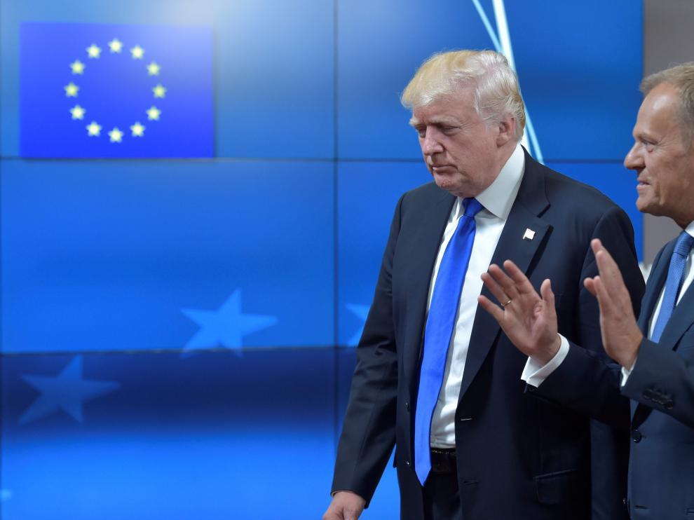 El presidente del Consejo europeo, Donald Tusk, se ha reunido con el presidente de Estados Unidos, Donald Trump.