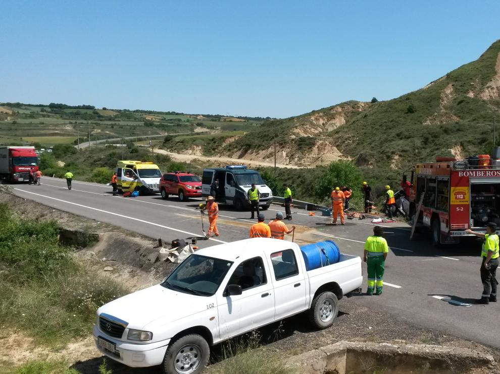 Accidente en Ayerbe