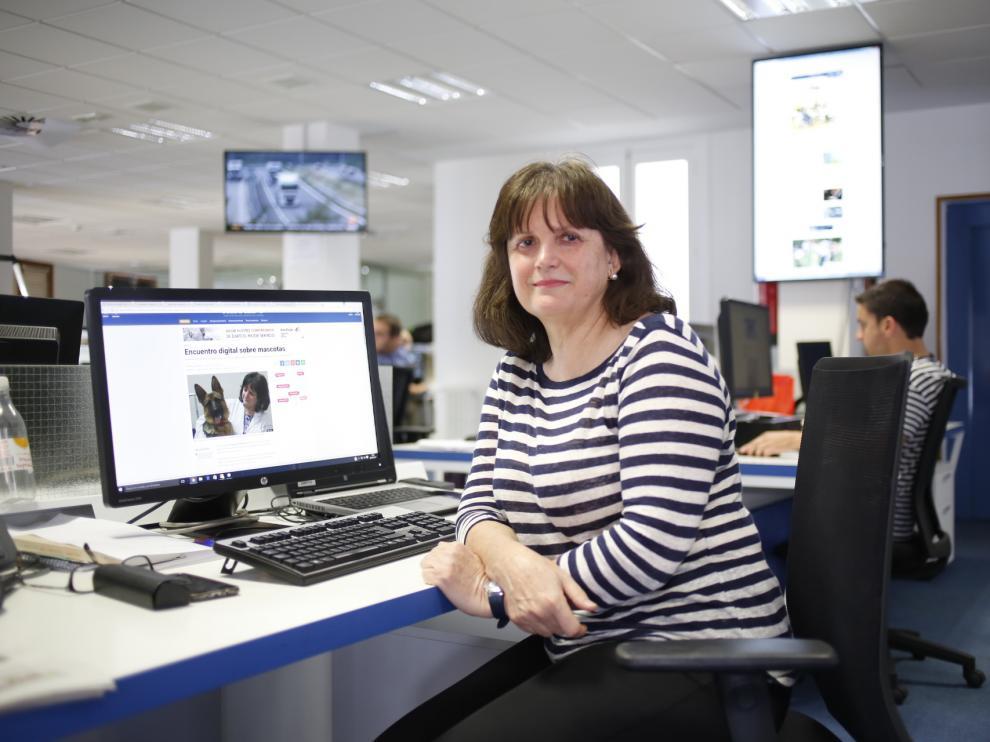 Maite Verde, directora del Hospital de Veterinaria de la Universidad de Zaragoza, en el encuentro digital con los lectores de Heraldo.es.