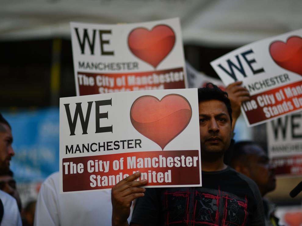 Protestas por el atentado de Mánchester