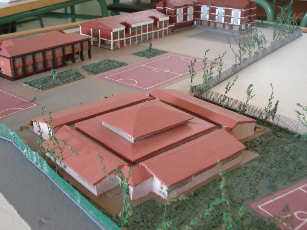 Maqueta del centro sanestebeño IES La Rambla realizada por los propios alumnos