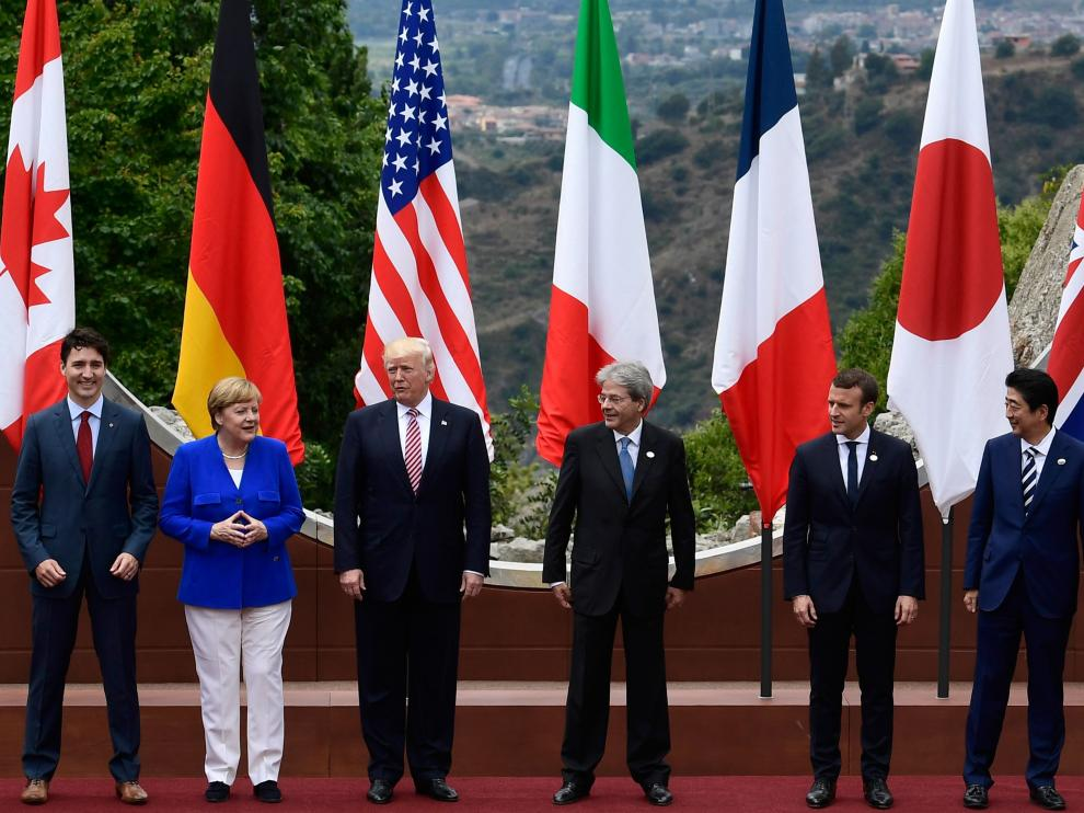 El G7 firma en Taormina una declaración de lucha antiterrorista.