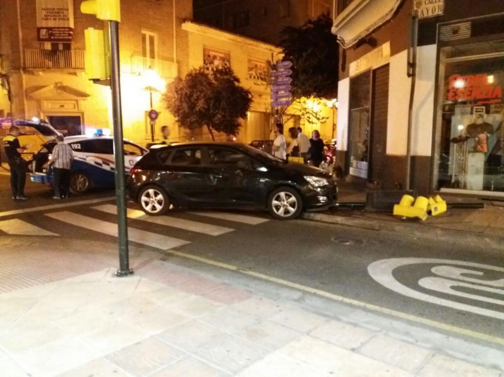 Accidente ocurrido en la calle San Vicente de Paul, a la altura de la calle Mayor.